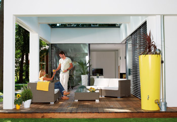 Декоративная емкость для сада и участка 2in1 Color