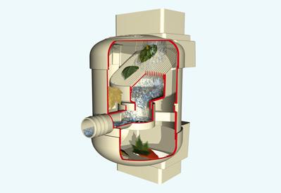 Фильтр Quatro Twist для декоративной садовой емкости