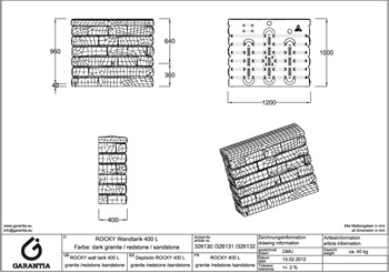 размеры емкости Каменная стена