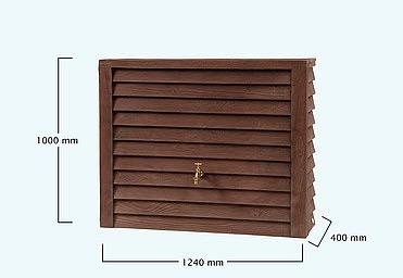 установка декоративной емкости для сбора воды Вагонка