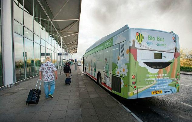 Автобус, работающий на отходах жизнедеятельности