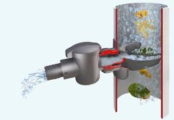 водосточный фильтр с воронкой