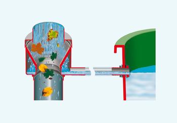 водосточный фильтр с отводом листвы