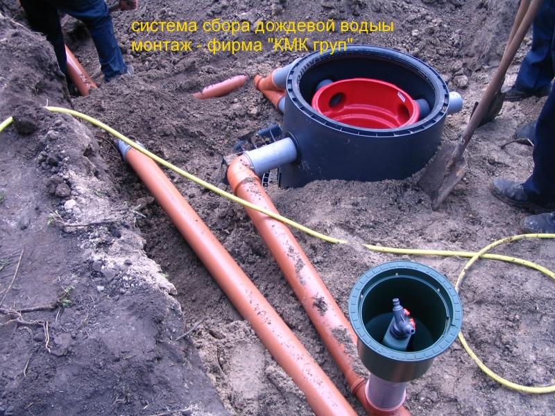 Сбор дождевой воды водораздаточный кран
